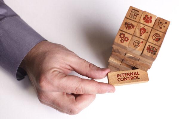 Internal Control Concept on Wooden Blocks